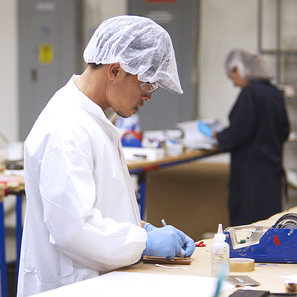 Products being Quality Checked